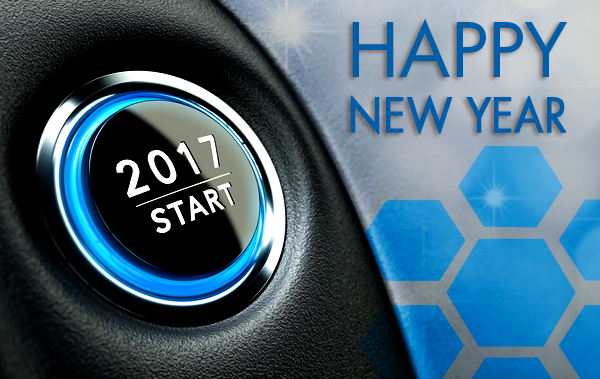 Happy New Year Start Button